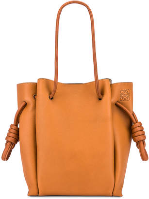 Loewe Flamenco Knot Tote Small Bag in Light Caramel & Tan | FWRD
