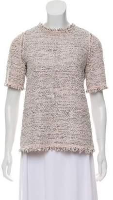 Balenciaga Metallic-Accented Tweed Top
