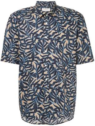 Cerruti leaf print short sleeve shirt