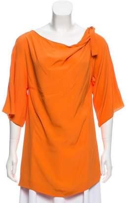 Philosophy di Alberta Ferretti Solid Half-Sleeve Tunic w/ Tags
