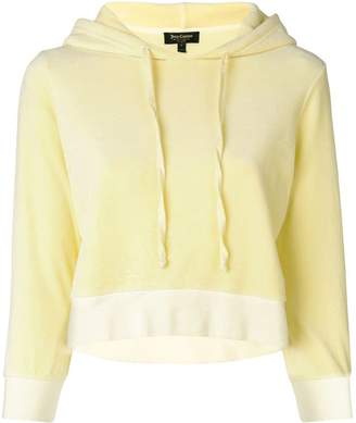 Juicy Couture (ジューシー クチュール) - Juicy Couture velour shrunken hooded pullover