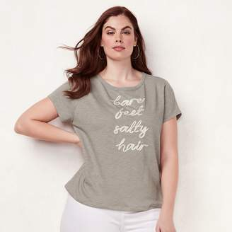 Lauren Conrad Plus Size Graphic Tee
