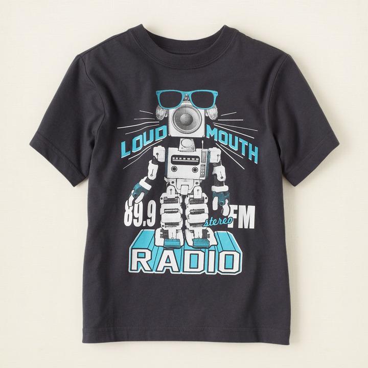 Children's Place Robot radio graphic tee