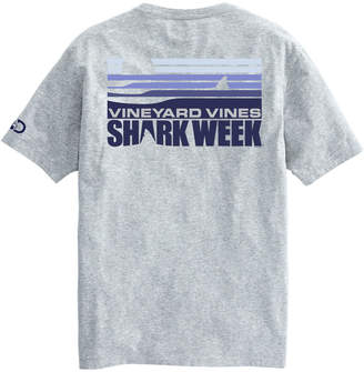 Vineyard Vines Mens Shark Week Sunset Shark Fin T-Shirt