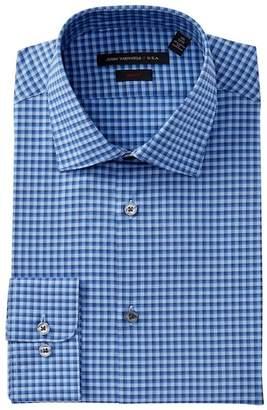 John Varvatos Collection Check Slim Fit Dress Shirt
