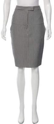 Paul Smith x Black Label Striped Knee-Length Skirt