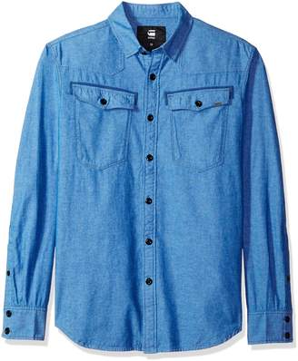 G Star Men's 3301 Long Sleeve Button Down Shirt