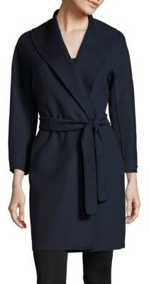 Max Mara Messi Double-Face Virgin Wool Wrap Coat $1,490 thestylecure.com