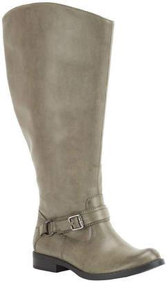 e853fb8d85f Easy Street Shoes Womens Quinn Plus Plus Riding Boots Flat Heel Zip