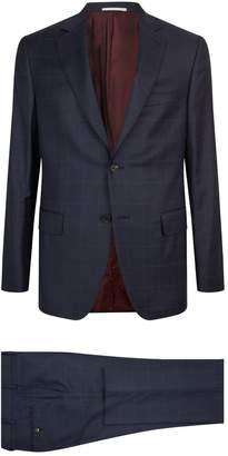 Pal Zileri Grid Check Two Piece Suit