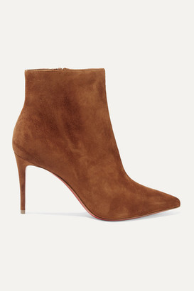 Christian Louboutin So Kate Booty 85 Suede Ankle Boots - Brown