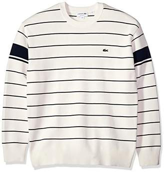 Lacoste Men's Long Sleeve Heritage France Milano Crew Neck Sweater