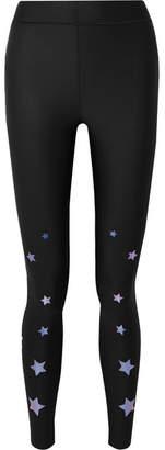 Ultracor - Ultra Luster Appliquéd Stretch Leggings - Black