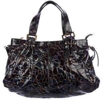 Liberty of London Designs Embossed Patent Leather Satchel