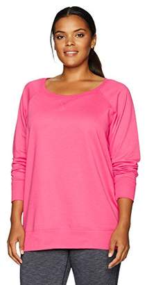 Blend of America Clementine Apparel Women's Plus Size Long Sleeve Slouchy PulloverT Shirt Easy Tag Crew Neck Cotton Sweatshirts (3862)