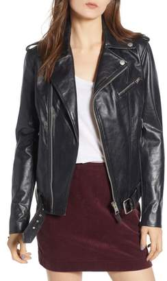 AG Jeans Reese Leather Moto Jacket