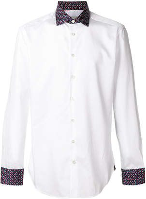 Etro contrast long sleeved shirt