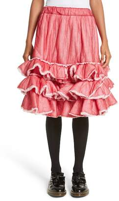 Comme des Garcons Ruffle Hem Nylon Skirt