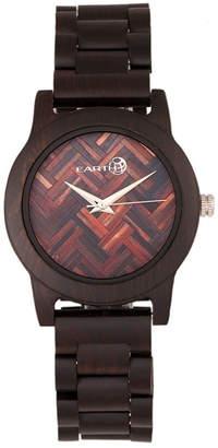 Earth Wood Crown Wood Bracelet Watch Brown 41Mm
