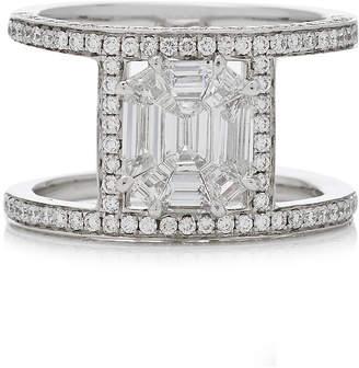 As 29 AS29 Illusion Diamond & 18K White Gold Multi Band Ring