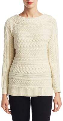 Ralph Lauren Collection Arch Cable-Knit Cashmere Sweater
