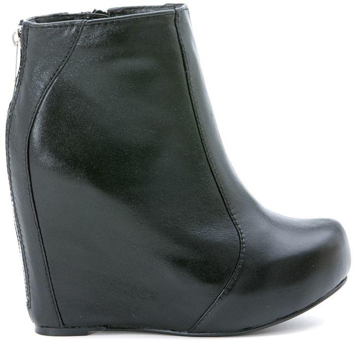 Jeffrey CampbellJeffrey Campbell Pixie Black Leather Ankle Boots