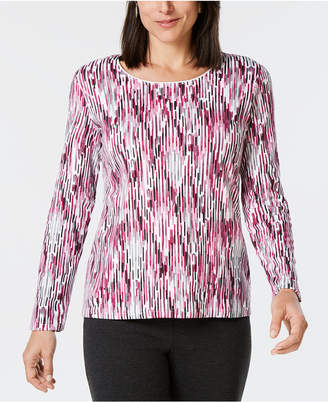 Karen Scott Printed Scoop-Neck Top, Created for Macy's