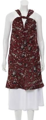 Etoile Isabel Marant Abstract Print Sleeveless Dress