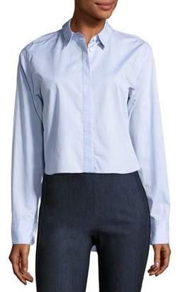 Rag & Bone Calder Reversible Long-Sleeve Button-Down Shirt, Blue