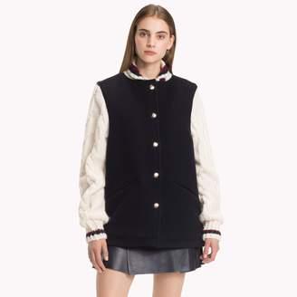 Tommy Hilfiger Cable Knit Varsity Jacket