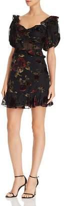 Saylor Rose Burnout Velvet Dress