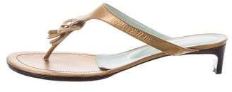 Sigerson Morrison Leather Thong Sandals