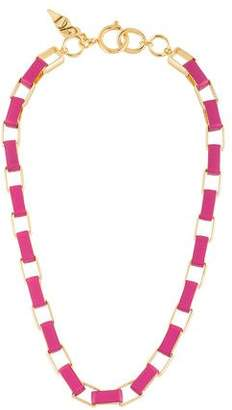 Diane von Furstenberg Gabby Leather Wrapped Link Necklace