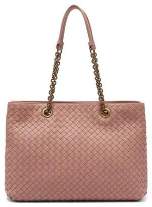 Bottega Veneta Intrecciato Medium Leather Tote - Womens - Dark Pink
