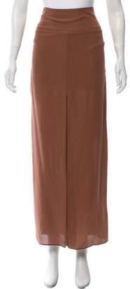 Brunello Cucinelli Maxi Silk Skirt