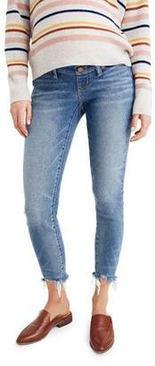 Madewell Maternity Cropped Skinny Jeans w/ Frayed Hem