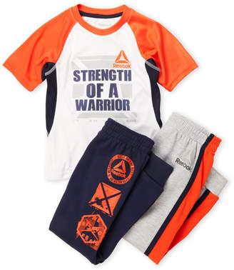 Reebok Boys 4-7) 3-Piece Graphic Tee & Sweatpants Set