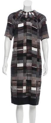 Marni Geometric Print Midi Dress