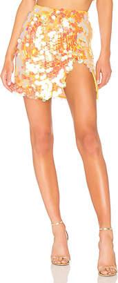 LPA Payette Sequin Draped Mini Skirt