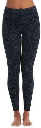 Spanx Denim Leopard Ankle Jean-ish Leggings