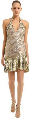 Roberto Cavalli Sequined Tulle Dress