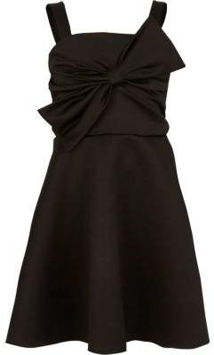 River Island Girls black bow front prom dress