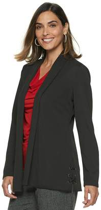Dana Buchman Women's Travel Anywhere Open-Front Lace Up Blazer