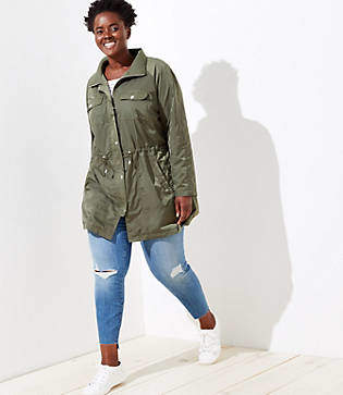 LOFT Plus Sateen Utility Jacket