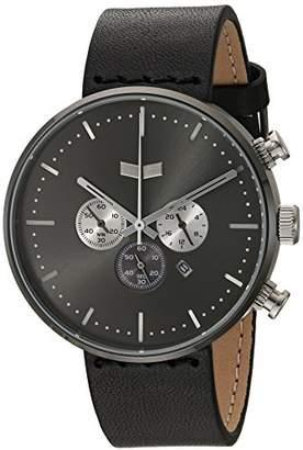 Vestal ' Roosevelt Chrono Leather' Quartz Stainless Steel Dress Watch