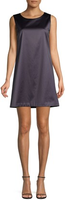 Theory Satin Sleeveless Shift Dress