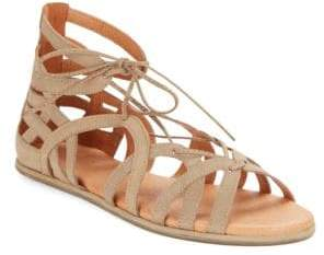 Kenneth Cole Gentle Souls by Break My Heart Leather Gladiator Sandals