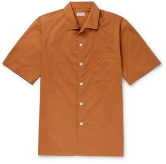 Arpenteur - Camp-collar Cotton-poplin Shirt - Camel