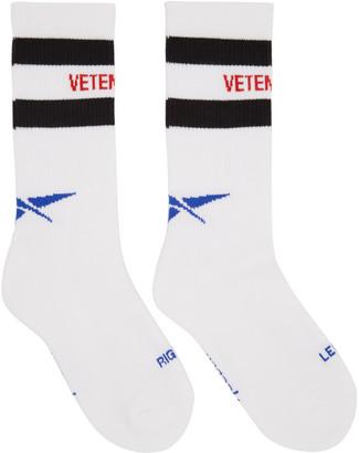 Vetements White Reebok Edition Classic Socks