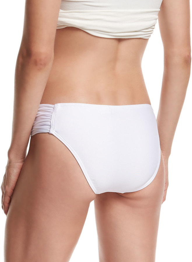 Luxe by Lisa Vogel Premier Shirred-Side Swim Bottom 2